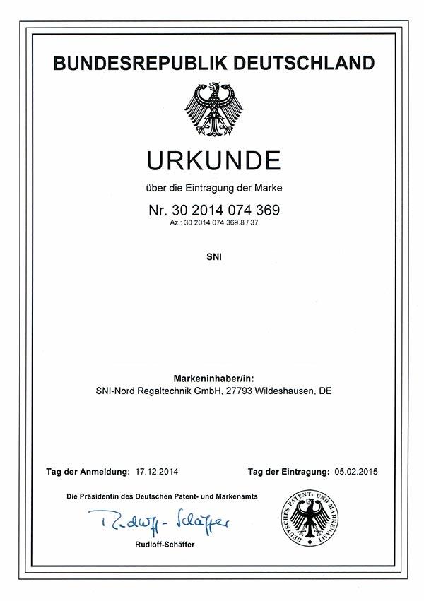 Urkunde Bundesrepublik Deutschland